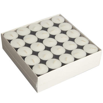 Verlengde 8 uur Burn Tealight Candles White Unscented